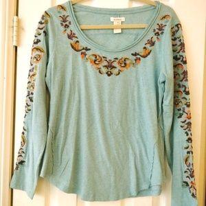 Sundance Embroidered Longsleeve Light Shirt